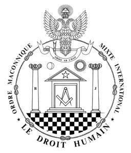Emblema dell'Ordine Massonico Misto e Internazionale LE DROIT HUMAIN