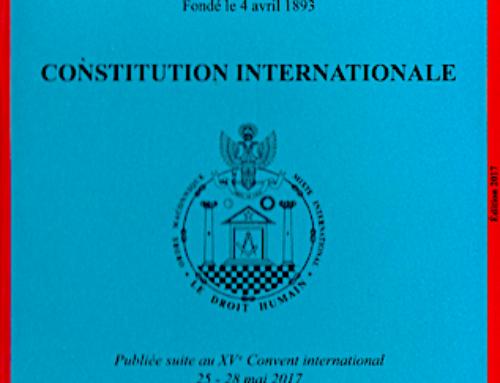 Costituzione Internazionale della Massoneria Mista…