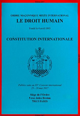 Massoneria: Costituzione internazionale dell'Ordine