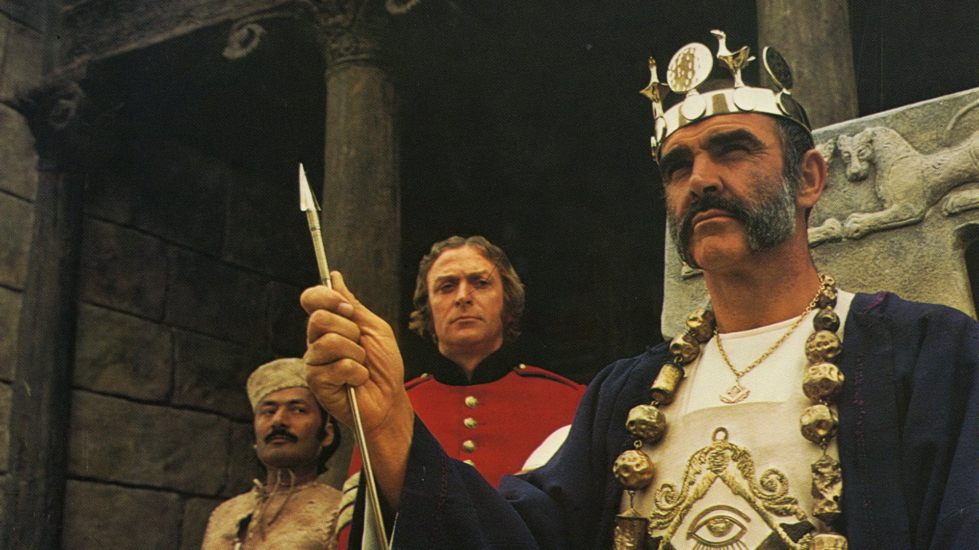 "Sean Connery in ""L'uomo che voleva farsi Re."