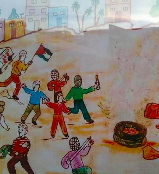 disegno di un bambino di Gaza