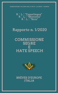 documenti e contributi sulla massoneria commissione segue e hate speech
